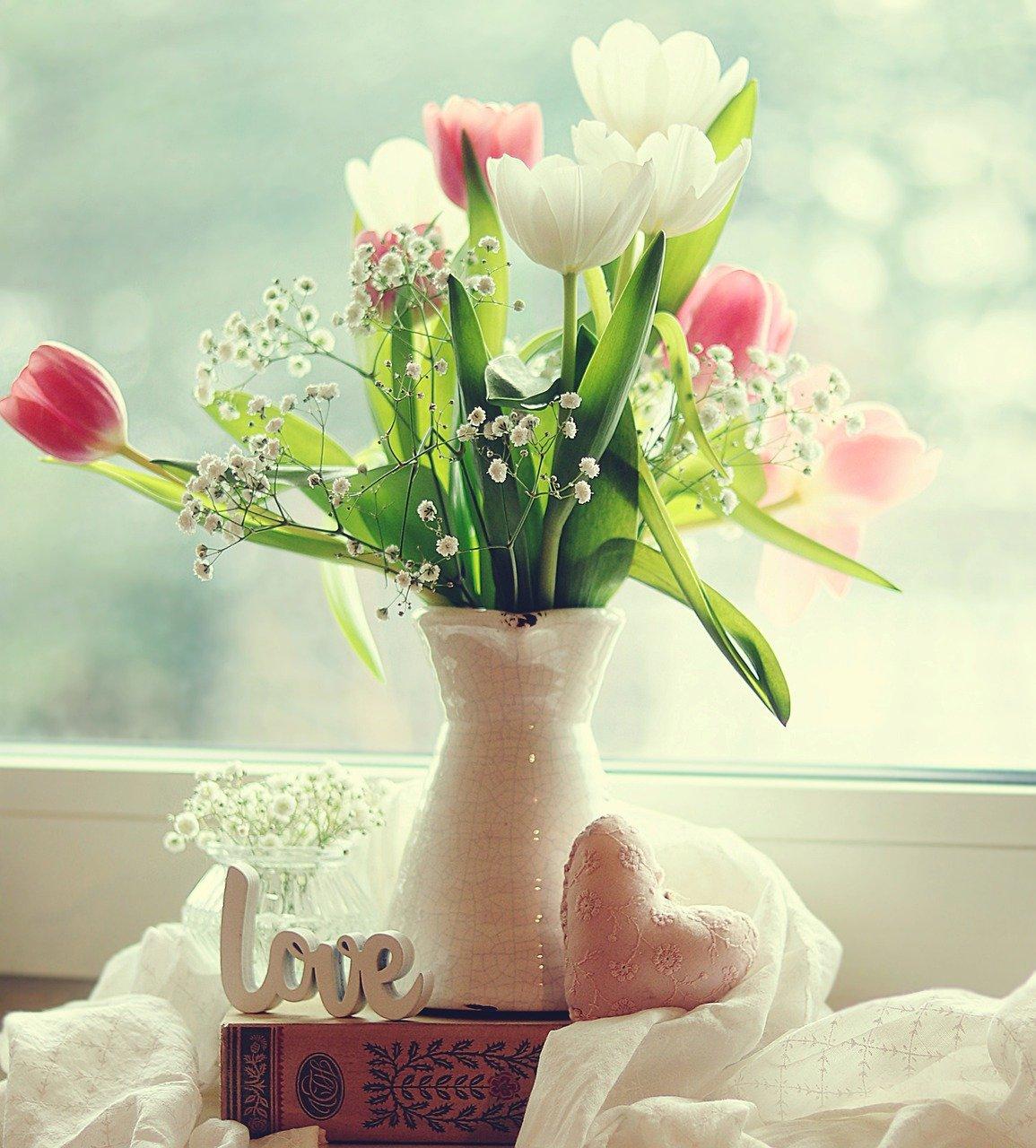 tulips, spring, love